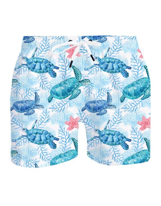 Turtles white background
